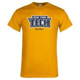 Gold T Shirt-Baseball New York Tech