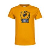 Youth Gold T Shirt-New York Tech Bear Head