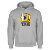 Grey Fleece Hoodie-New York Tech Bear Head