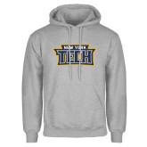 Grey Fleece Hoodie-New York Tech