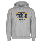 Grey Fleece Hoodie-New York Tech Bears