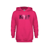 Youth Raspberry Fleece Hoodie-NYIT  Foil