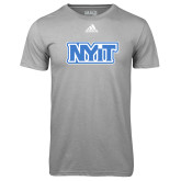 Adidas Climalite Sport Grey Ultimate Performance Tee-NYIT