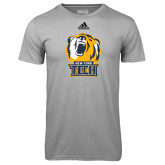 Adidas Climalite Sport Grey Ultimate Performance Tee-New York Tech Bear Head