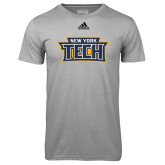 Adidas Climalite Sport Grey Ultimate Performance Tee-New York Tech