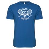 Next Level SoftStyle Royal T Shirt-2018 NYIT ECC Tennis Champions
