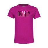 Youth Cyber Pink T Shirt-NYIT  Foil