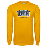 Gold Long Sleeve T Shirt-Track and Field New York Tech