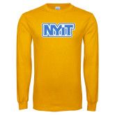 Gold Long Sleeve T Shirt-NYIT