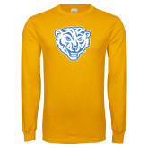 Gold Long Sleeve T Shirt-Mascot