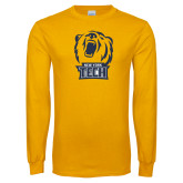 Gold Long Sleeve T Shirt-New York Tech Bear Head