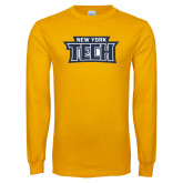 Gold Long Sleeve T Shirt-New York Tech