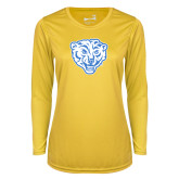 Ladies Syntrel Performance Gold Longsleeve Shirt-Mascot