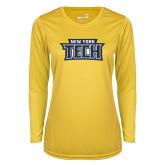 Ladies Syntrel Performance Gold Longsleeve Shirt-New York Tech