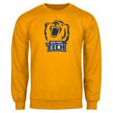 Gold Fleece Crew-New York Tech Bear Head