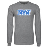 Grey Long Sleeve T Shirt-NYIT