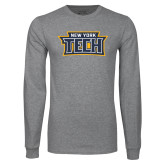 Grey Long Sleeve T Shirt-New York Tech