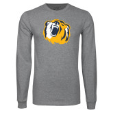 Grey Long Sleeve T Shirt-Bear Head