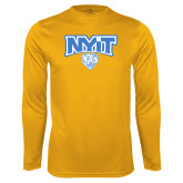 Performance Gold Longsleeve Shirt-Primary Mark