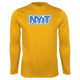 Performance Gold Longsleeve Shirt-NYIT