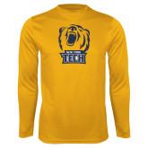 Performance Gold Longsleeve Shirt-New York Tech Bear Head