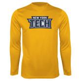 Performance Gold Longsleeve Shirt-New York Tech