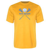 Performance Gold Tee-Lacrosse Design