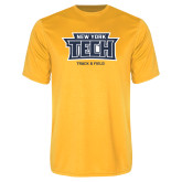 Performance Gold Tee-Track and Field New York Tech