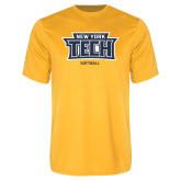 Performance Gold Tee-Softball New York Tech
