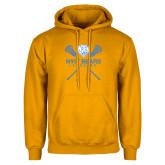 Gold Fleece Hoodie-Lacrosse Design