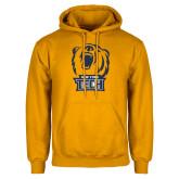 Gold Fleece Hoodie-New York Tech Bear Head