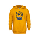 Youth Gold Fleece Hoodie-New York Tech Bear Head