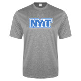 Performance Grey Heather Contender Tee-NYIT