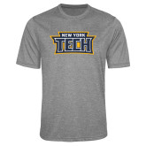 Performance Grey Heather Contender Tee-New York Tech