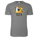 Next Level SoftStyle Heather Grey T Shirt-New York Tech Bear Head