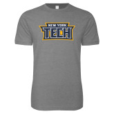 Next Level SoftStyle Heather Grey T Shirt-New York Tech