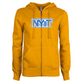 ENZA Ladies Gold Fleece Full Zip Hoodie-NYIT