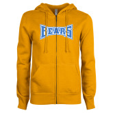 ENZA Ladies Gold Fleece Full Zip Hoodie-Bears