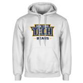White Fleece Hoodie-New York Tech Bears