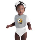 Grey Baby Bib-New York Tech Bear Head