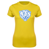 Ladies Syntrel Performance Gold Tee-Mascot