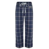 Navy/White Flannel Pajama Pant-New York Tech