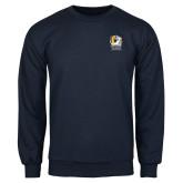 Navy Fleece Crew-New York Tech Bear Head