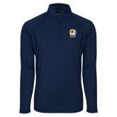Sport Wick Stretch Navy 1/2 Zip Pullover-New York Tech Bear Head