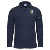 Columbia Full Zip Navy Fleece Jacket-New York Tech Bear Head