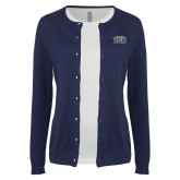 Ladies Navy Cardigan-New York Tech