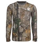 Realtree Camo Long Sleeve T Shirt w/Pocket-New York Tech Bear Head