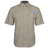 Khaki Short Sleeve Performance Fishing Shirt-NYIT