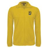 Fleece Full Zip Gold Jacket-New York Tech Bear Head