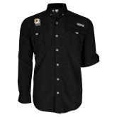 Columbia Bahama II Black Long Sleeve Shirt-New York Tech Bear Head